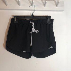Black and Grey Varsity Shorts